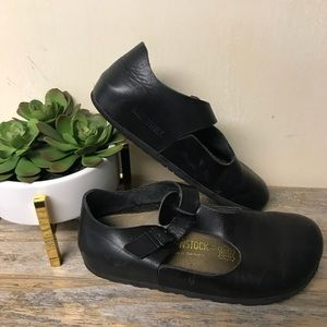 Birkenstock Mary Janes Black Leather 36